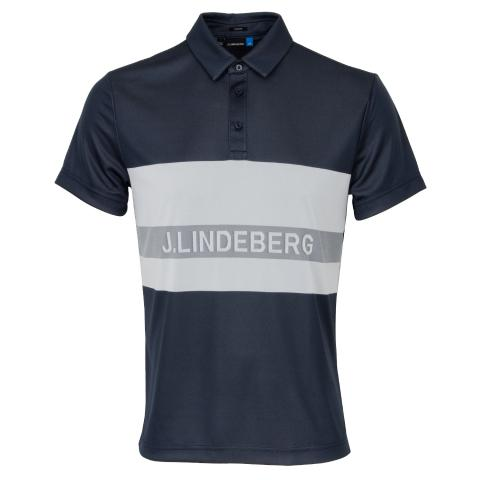 J Lindeberg Theo TX Jaquard Polo Shirt JL Navy