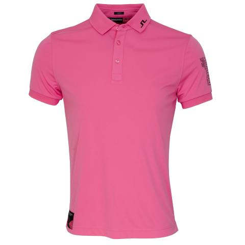 J Lindeberg Tour Tech TX Archived Polo Shirt Pop Pink