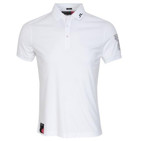 J Lindeberg Tour Tech TX Archived Polo Shirt White