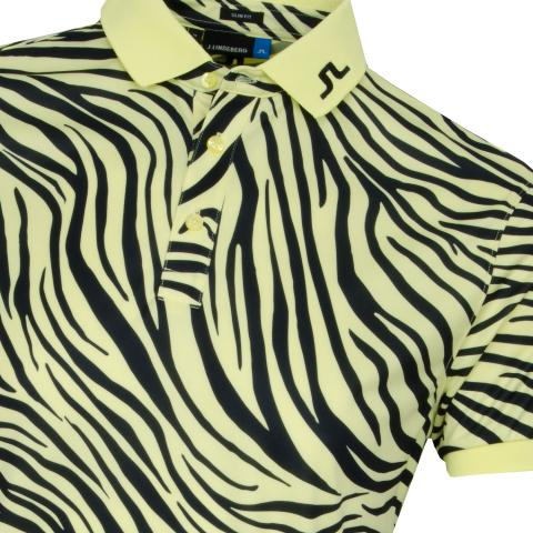 J Lindeberg Tour Tech TX Print Polo Shirt