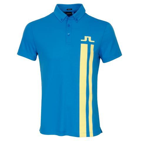 J Lindeberg Zeke Lux Piquet Polo Shirt True Blue