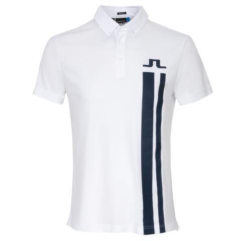 J Lindeberg Zeke Lux Piquet Polo Shirt White