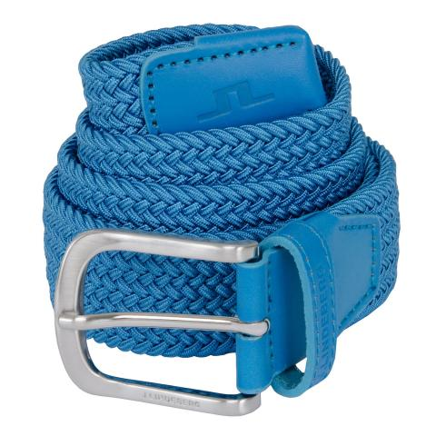 J Lindeberg Bernhard Braided Belt Ocean Blue