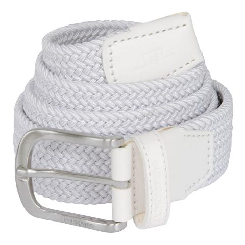 J Lindeberg Bernhard Braided Belt White SS21