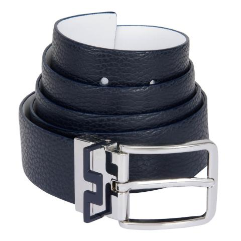 J Lindeberg Bridge Reversible Belt JL Navy