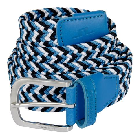 J Lindeberg Bubba Braided Belt Ocean Blue