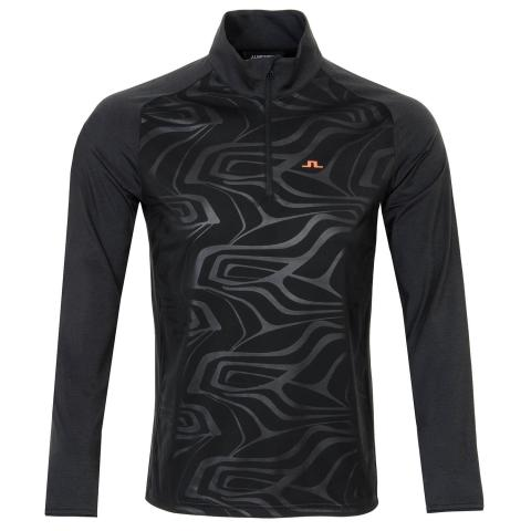 J Lindeberg Henry Golf Mid Sweater Black Melange