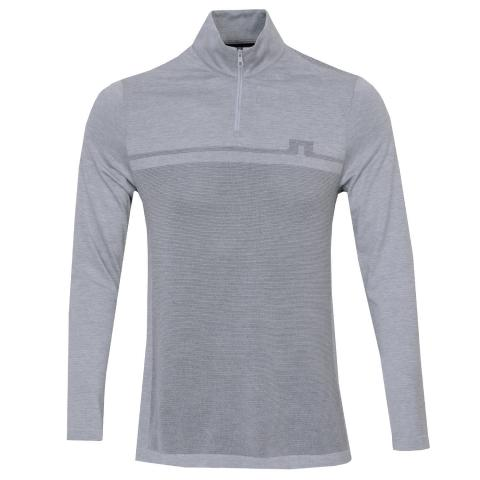 J Lindeberg Joey Seamless Golf Mid Sweater Stone Grey Melange