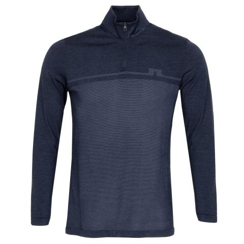 J Lindeberg Joey Seamless Golf Mid Sweater Navy Melange