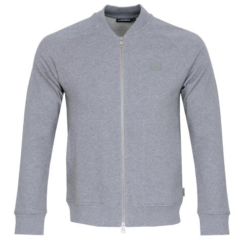 J Lindeberg Josef Zip Sweater Grey Melange