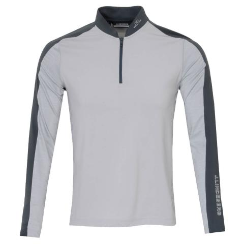 J Lindeberg Ry Mid Golf Sweater Stone Grey Melange