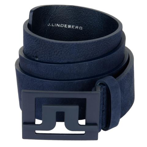 J Lindeberg Slater Leather Belt JL Navy