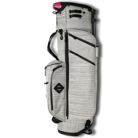 Jones Golf Bags Trouper Golf Stand Bag Gray Twill/Pink