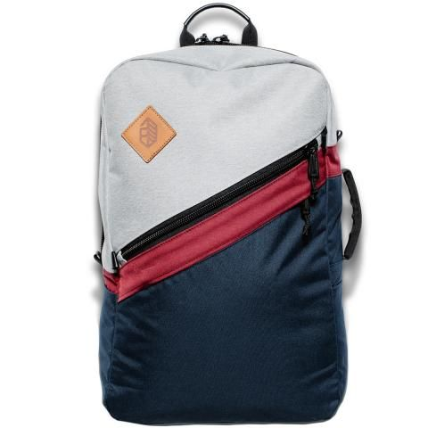 Jones Utility Daypack Gray/Navy/Burgundy
