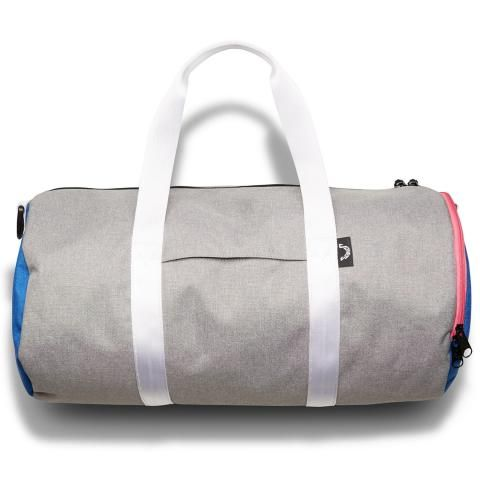 Jones Varsity Duffle Bag Gray/Royal/Pink