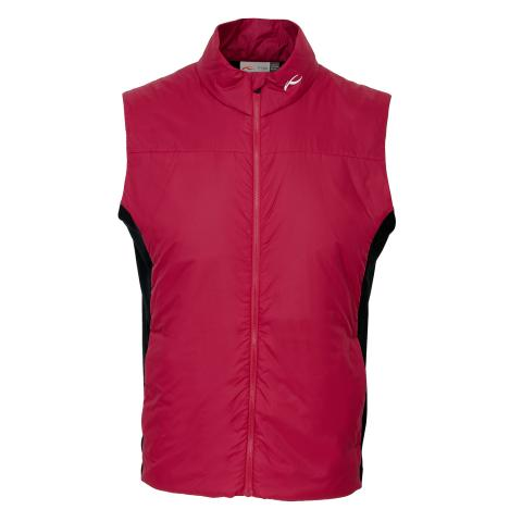 KJUS Radiation Windproof Vest Currant Red/Black