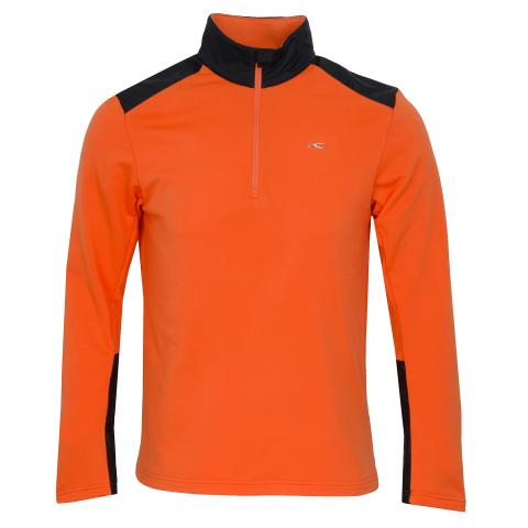 KJUS Calderas Half Zip Sweater Orange/Black