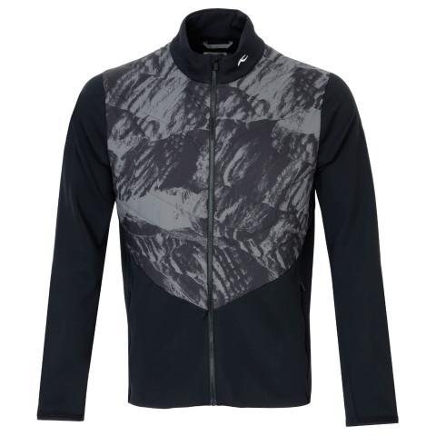 KJUS Release Printed Jacket Black/Dark Dusk