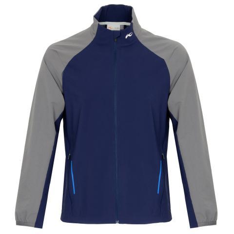 KJUS Dave Full Zip Golf Jacket Atlanta Blue/Steel Grey