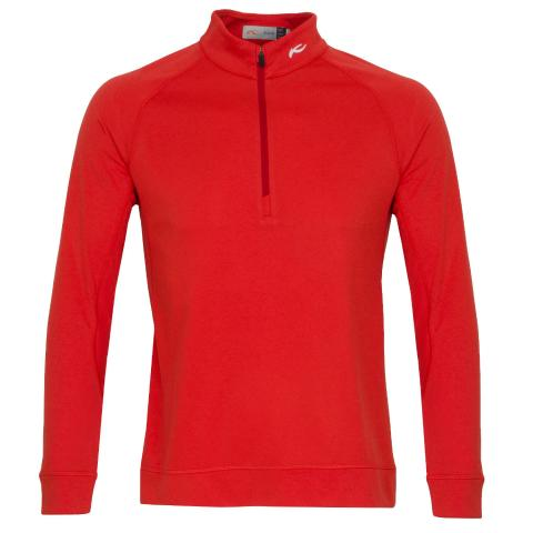 KJUS Keano Half Zip Golf Sweater Cosmic Red Melange