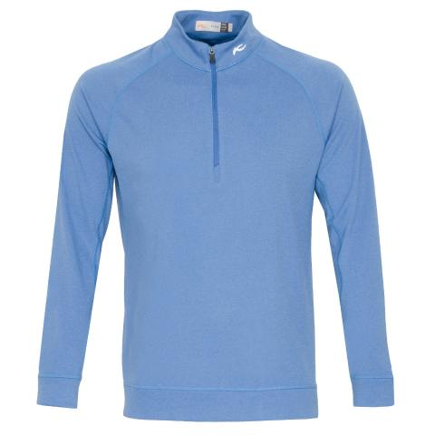 KJUS Keano Half Zip Golf Sweater Marlin Blue Melange