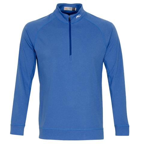 KJUS Keano Half Zip Golf Sweater Midnight Blue Melange
