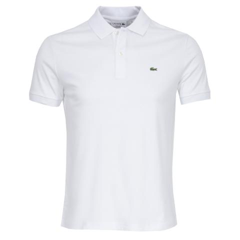 5d3627ae Lacoste Ribbed Collar Polo Shirt White | Scottsdale Golf