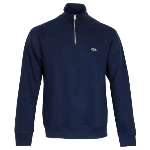 Lacoste 1/4 Zip Core Sweater Navy Blue