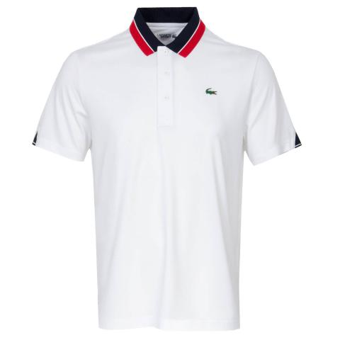 Lacoste Two Tone Polo Shirt White/Navy/Red