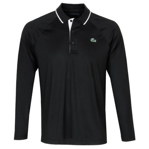 Lacoste LS Breathable Polo Shirt Black/White