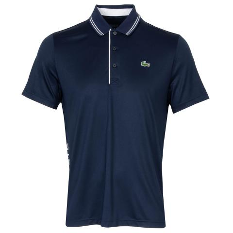 Lacoste Signature Breathable Polo Shirt Navy/White