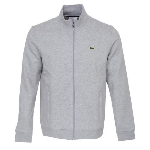 ca64620d Lacoste Sport Zip Fleece Mid Layer Silver Chine