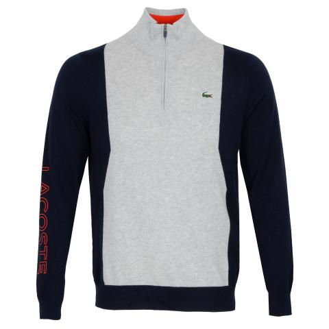 Lacoste Breathable Knit Half Zip Sweater