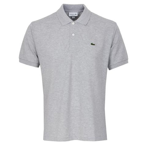 Lacoste L1264 Polo Shirt Silver Chine