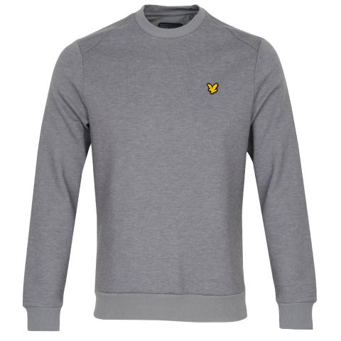 Lyle & Scott Crew Neck Fly Fleece Mid Grey Marl