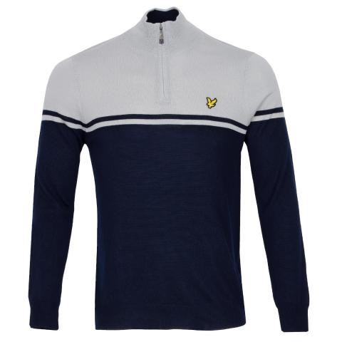 Lyle & Scott Croft Zip Neck Sweater Navy