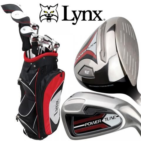Lynx Power Tune Complete Golf Package Set Mens / Cart Bag / Graphite / Right Hand