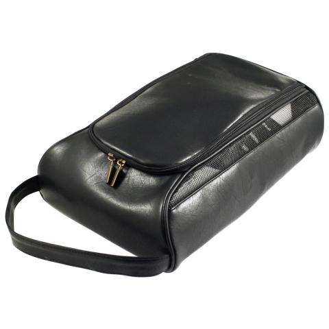 Masters Leatherette Golf Shoe Bag Black