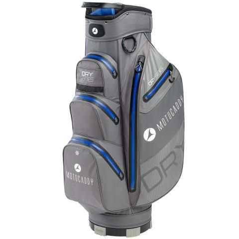 Motocaddy 2020 Dry Series Waterproof Golf Cart Bag Charcoal/Blue