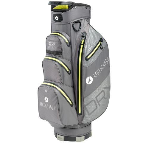 Motocaddy 2020 Dry Series Waterproof Golf Cart Bag Charcoal/Lime