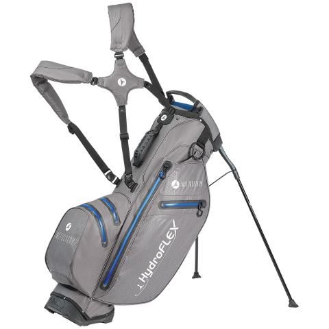 Motocaddy 2020 Hydroflex Waterproof Golf Stand Bag Charcoal/Blue