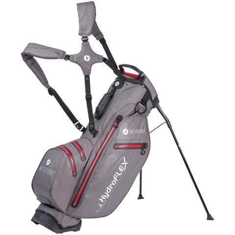 Motocaddy 2020 Hydroflex Waterproof Golf Stand Bag Charcoal/Red