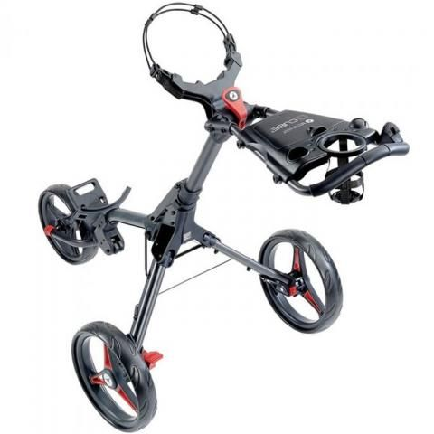 Motocaddy CUBE Push Golf Trolley Graphite/Red