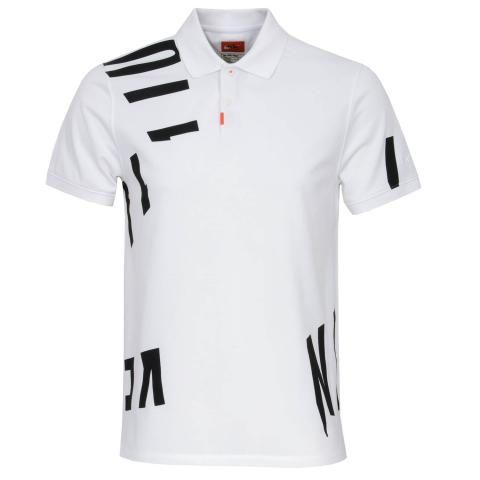 Nike Dry Nike Hacked Polo Shirt White