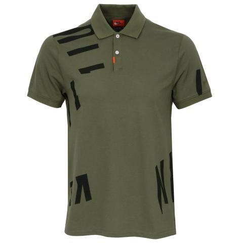 Nike Dry Nike Hacked Polo Shirt Medium Olive