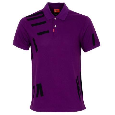 Nike Dry Nike Hacked Polo Shirt Bright Grape
