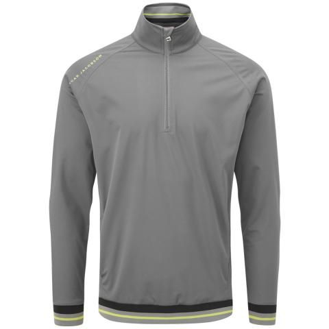 Oscar Jacobson Ramsey Zip Neck Windproof Pewter