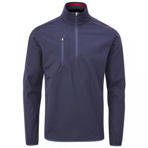 Oscar Jacobson Richmond Zip Neck Windproof Navy