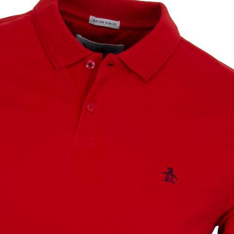 Original penguin raised rib polo shirt samba scottsdale golf for Golf shirt with penguin logo