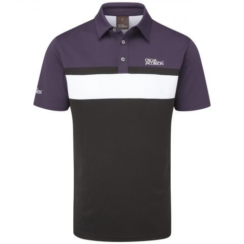 Oscar Jacobson Boston Polo Shirt Black/Plum